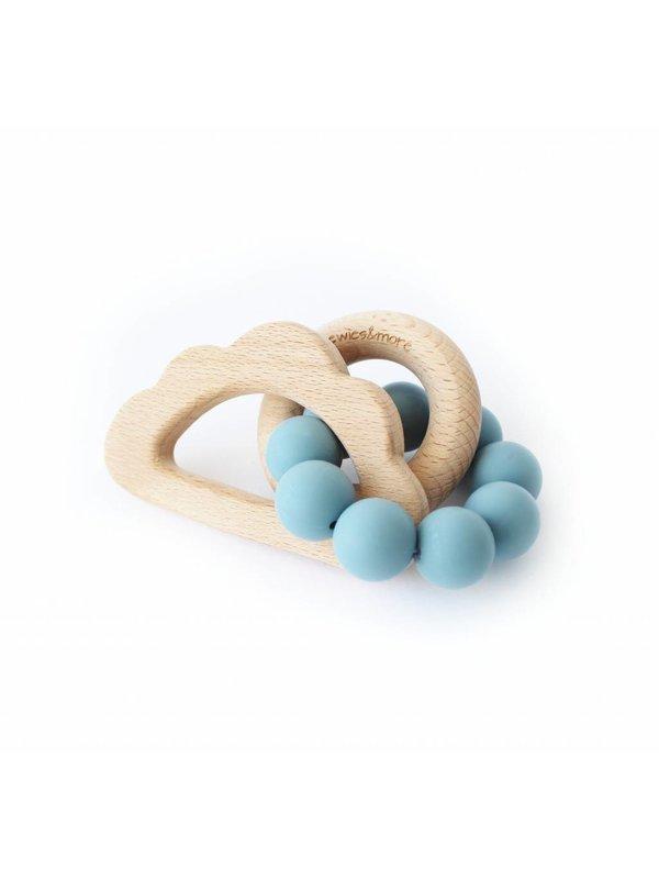 Play Rattle Wolk blauw