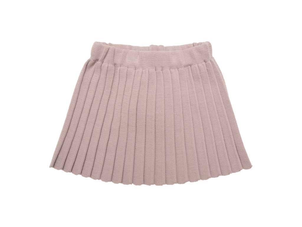 Plisse knit skirt pink