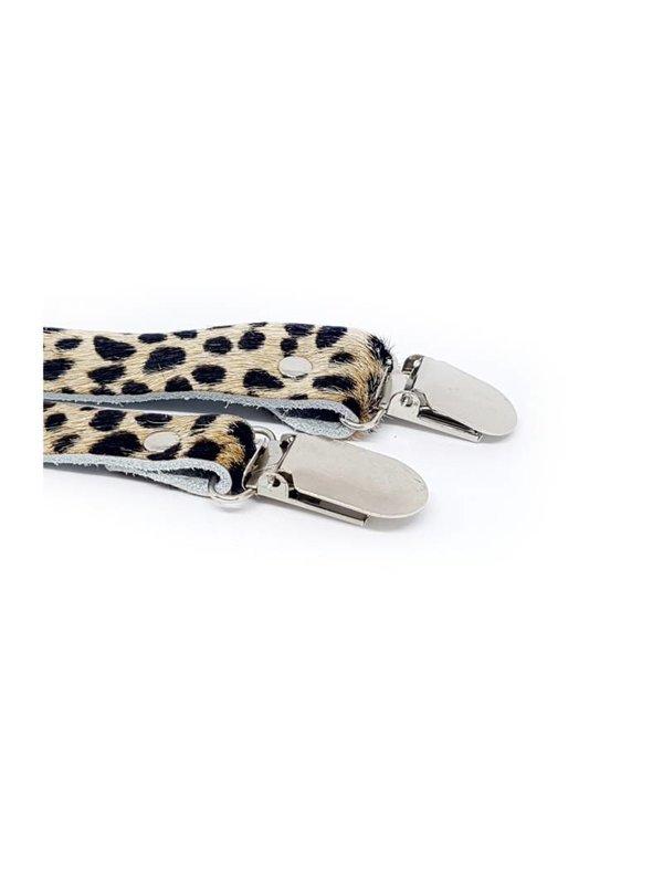 Furry Cheetah Clip beige