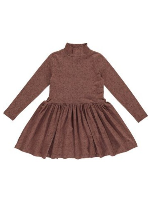 Jersey dress raspberry brown