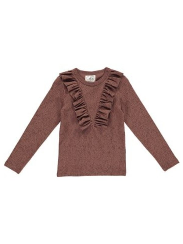 Longsleeve raspberry brown