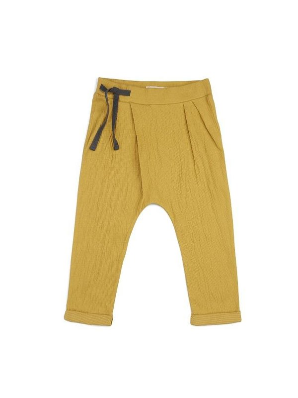 Pleated harem pants dusty yellow