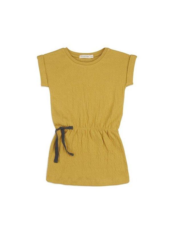 Textured blouson dress