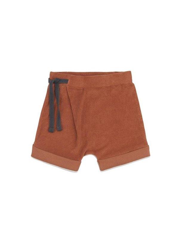 Frotté harem shorts burnt clay LAATSTE MAAT 6-12M