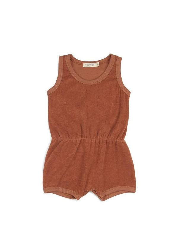 Frotté playsuit burnt clay