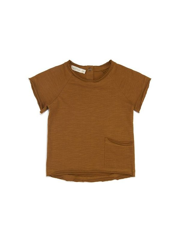 Raw Edged Tee Gold Chamomile