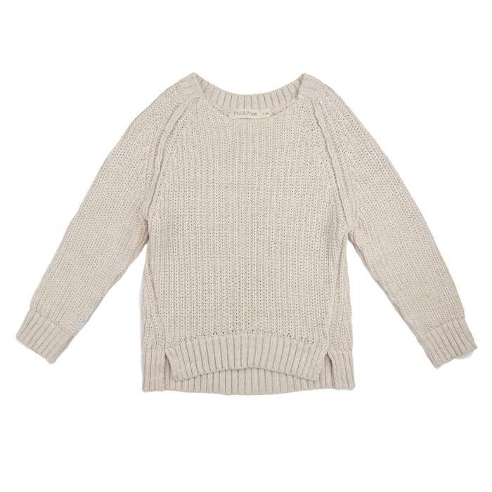 Chunky knit sweater stone melange