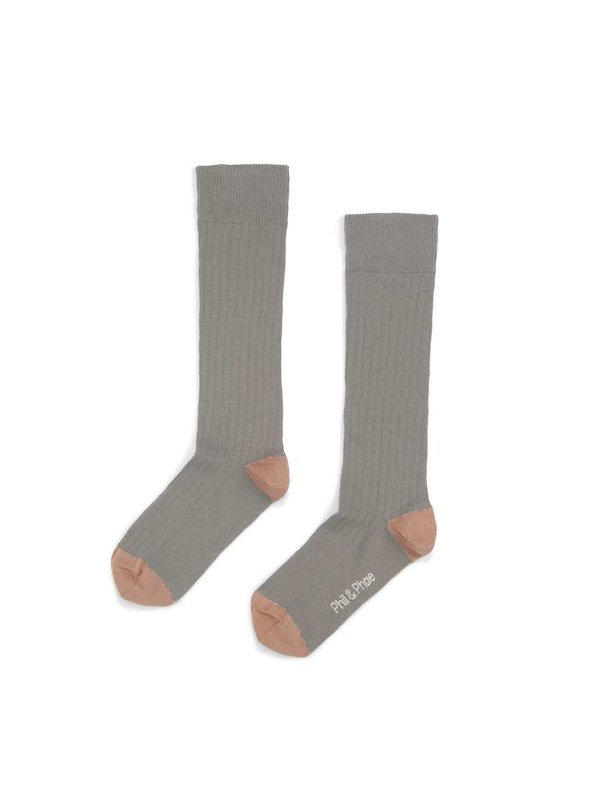 Ribbed Knee Socks Eucalyptus
