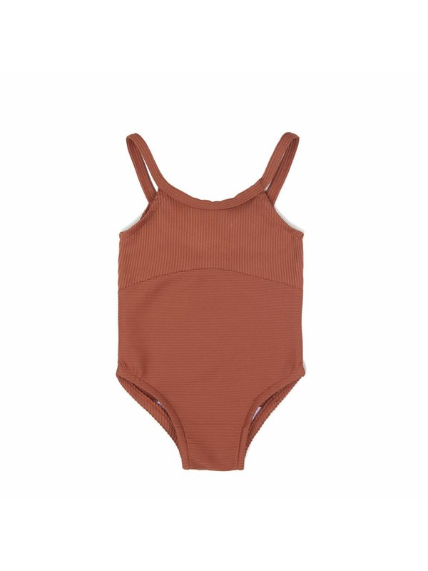 Swim suit burnt clay