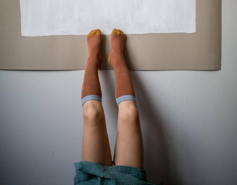 Brick Knee Socks