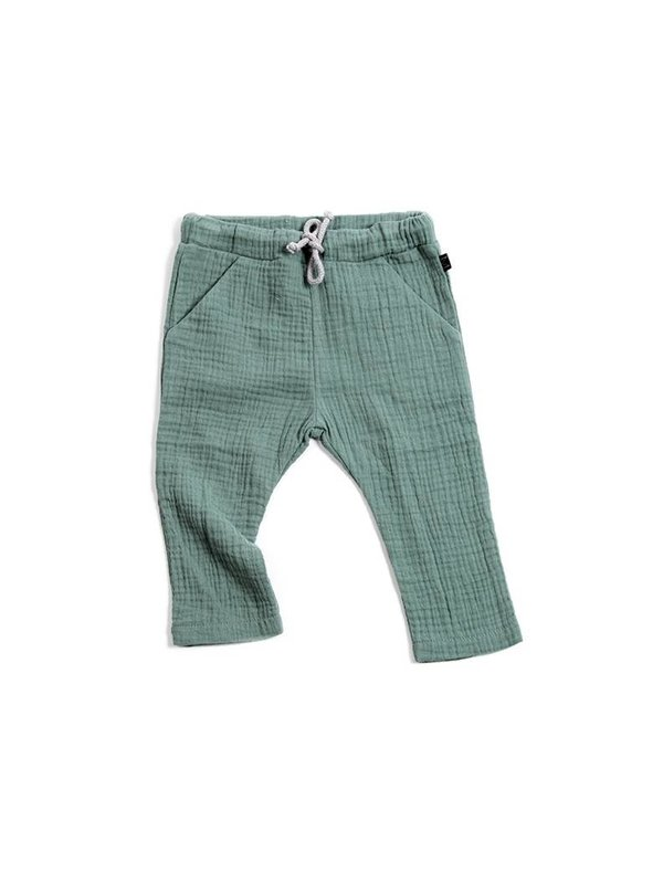 Teal Pocket Pants