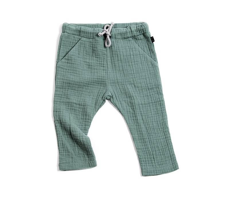 Teal Pocket Pants