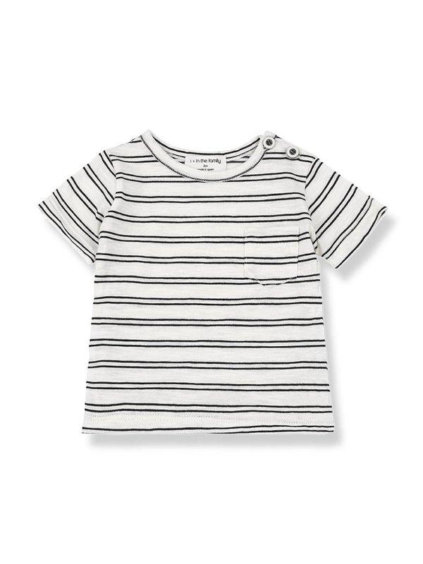 Luca short sleeve t-shirt off white/black
