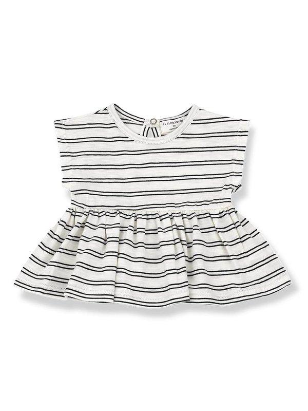 Petra blouse off white/black