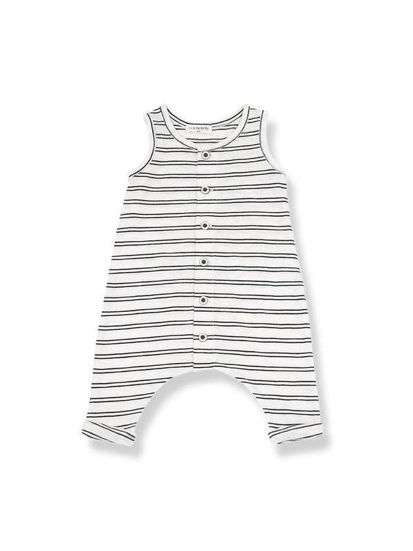 Piet overall off white/black