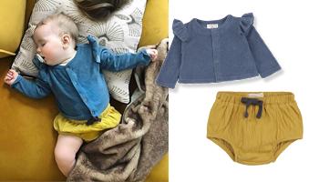 Babykleding vest en bloomer phil phae one more in the family