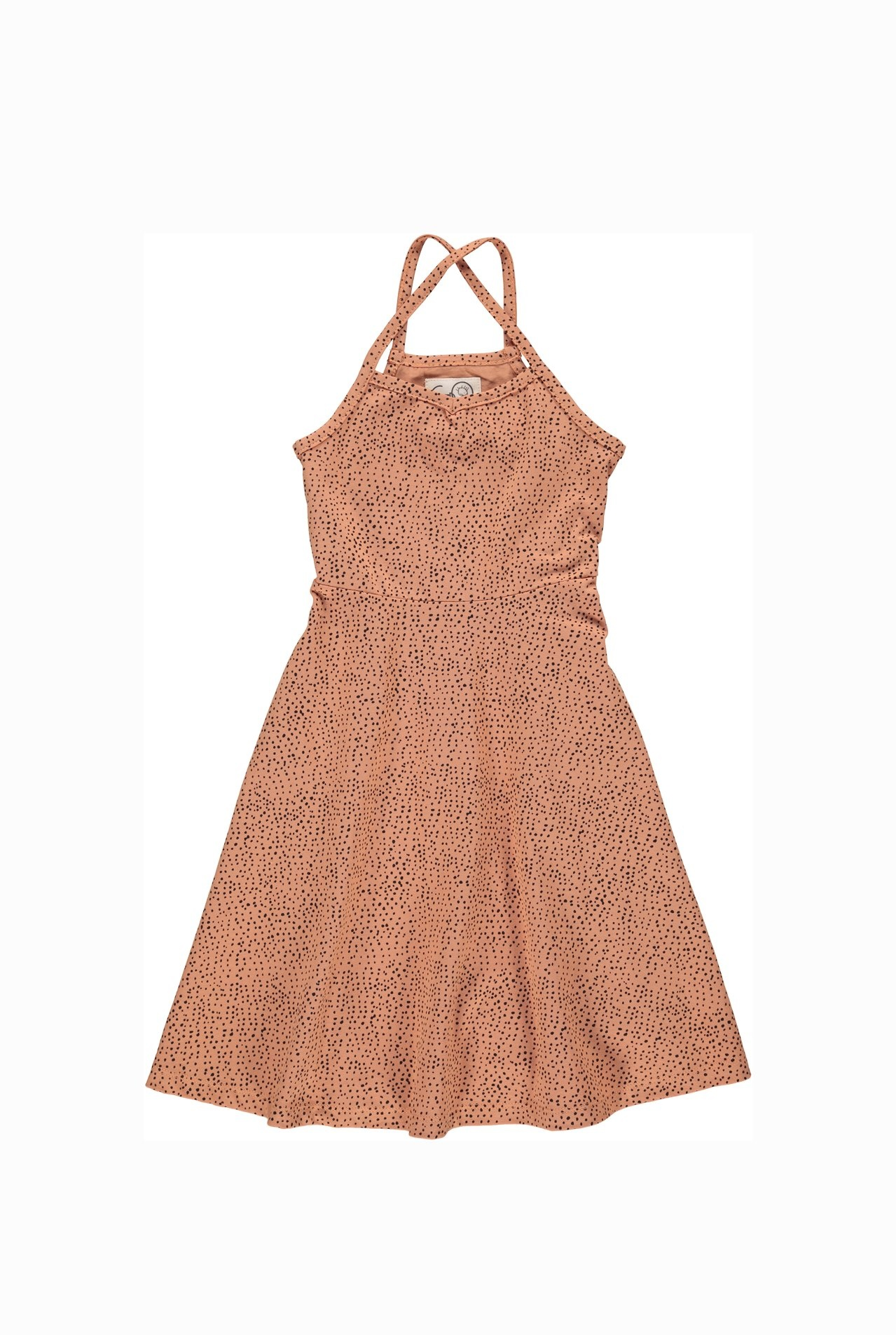 Summer dress aesthetic dots - coral