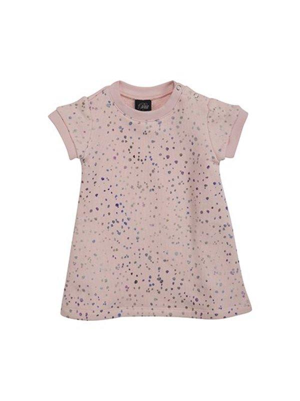 Tunic dress pink spot LAATSTE MAAT 80