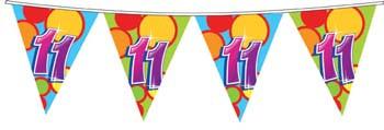 Feestfestijn Vlaggenlijn 11 jaar - 10 meter