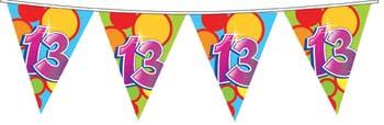 Feestfestijn Vlaggenlijn 13 jaar - 10 meter