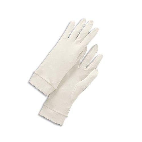 Zijde handschoenen tegen droge handen - ivoor