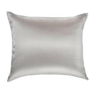 100% Zijden kussensloop Licht grijs hotelsluiting  - 19MM