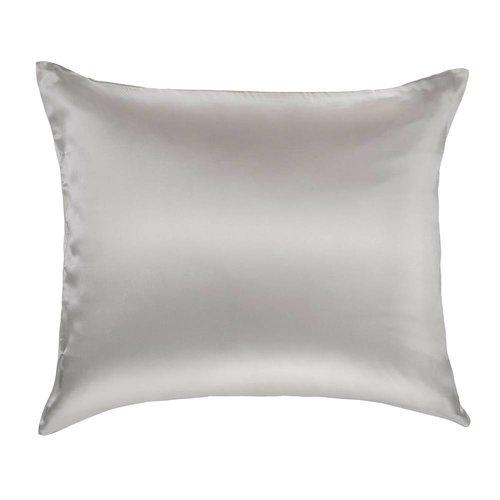 Silk Heaven 100% Zijden kussensloop Licht grijs hotelsluiting  - 19MM