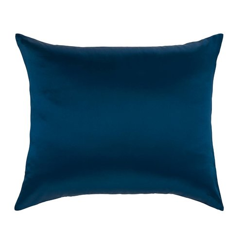 100% Zijden kussensloop Blauw hotelsluiting - 19MM