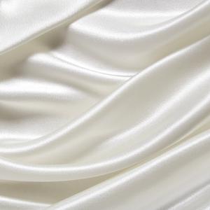 Stofstaal zijden dekbedovertrek/hoeslaken 22 momme - Ivoor