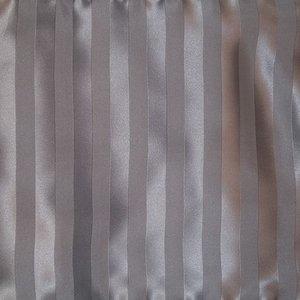 Zijden dekbedovertrek Stripes Grey+ gratis service set