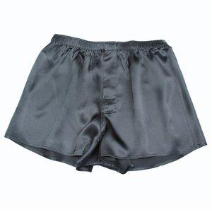 Zijden heren boxershort - Zwart