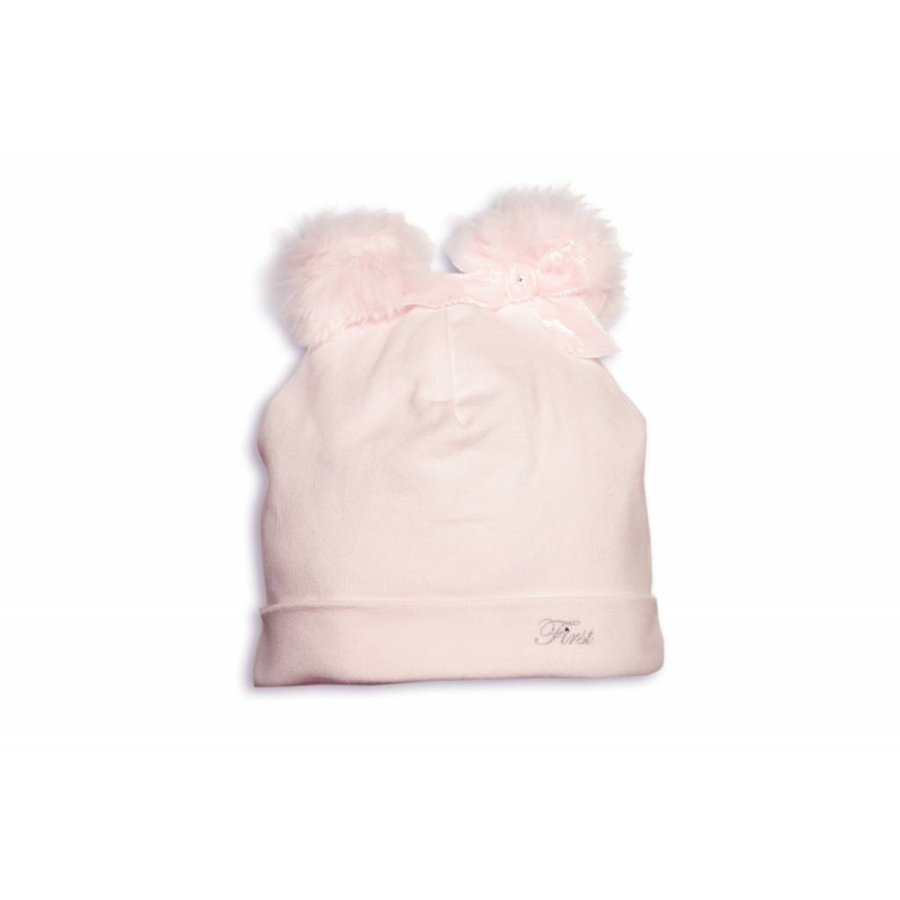 babymutsje met teddy en fake fur oortjes