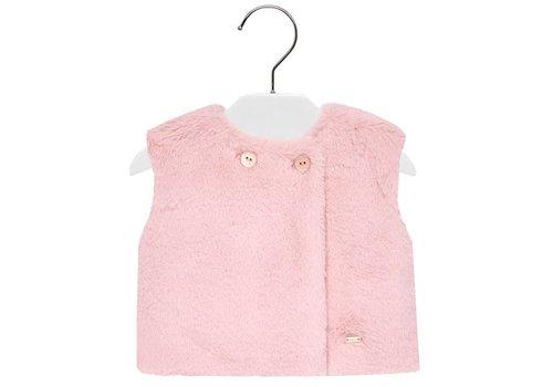 Mayoral fake fur vest - roze