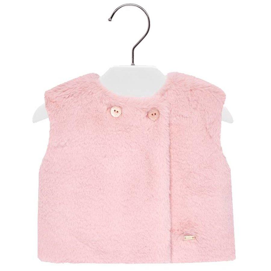 fake fur vest - roze