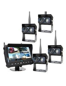 RVS-systemen 7 inch Quad 4 Draadloze Camera's