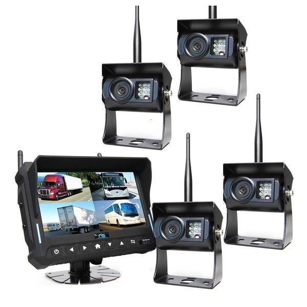 RVS-systemen 7 inch Quad 4 Camera's Draadloos