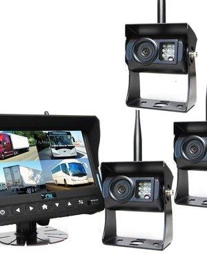 RVS-systemen 7 inch Quad 3 Draadloze Camera's