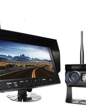 RVS-systemen 9 inch Quad Draadloze Camera set