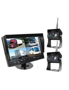 RVS-systemen 9 inch Quad 2 Draadloze Camera's