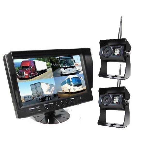 9 inch Quad 2 Draadloze Camera's