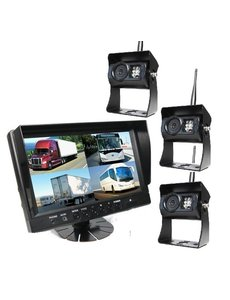 RVS-systemen 9 inch Quad 3 Draadloze Camera's