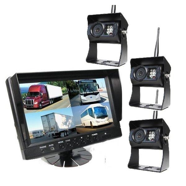 9 inch Quad 3 Draadloze Camera's