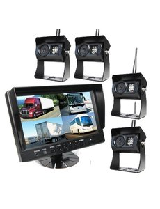 9 inch Quad 4 Draadloze Camera's