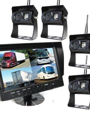 RVS-systemen 9 inch Quad 4 Draadloze Camera's
