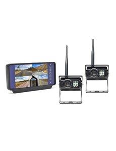 RVS-systemen 7 inch Spiegel 2 Draadloze Camera's