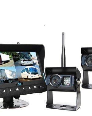 RVS-systemen DVR 7 inch Quad 2 Draadloze Camera's