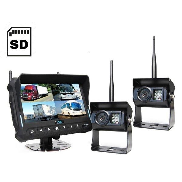 RVS-systemen 7 inch Quad 2 Draadloze Camera's