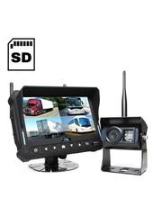 DVR 7 inch Quad Draadloze Camera's