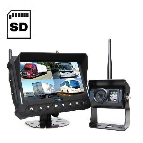 RVS-systemen DVR 7 inch Quad Draadloze Camera's