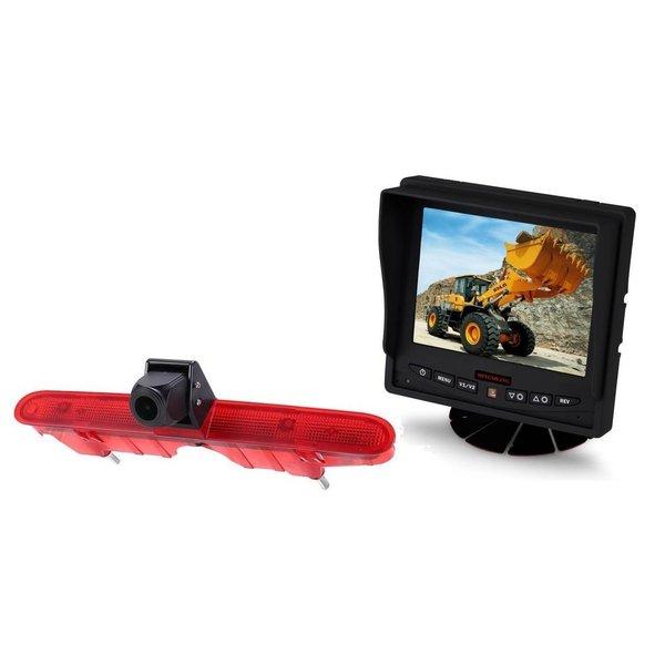 RVS-systemen Peugeot Partner (2008-2016) Remlichtcamera Achteruitrijcamera  Monitor 5 inch RVM-560